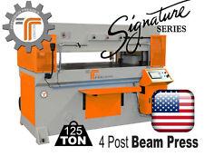 New Cjrtec 125 Ton 4 Post Beam Press Automatic Die Cutting Machine