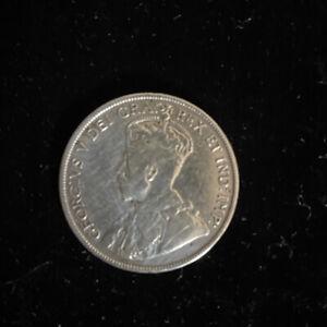 1916 Canadian Silver Half Dollar