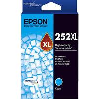 GENUINE Original Epson 252XL Cyan High Capacity Ink Cartridge Toner T253292