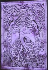 Celtic Tree Of Life Wall Hanging Textile Yoga Mat Poster Small Tapestry Decor