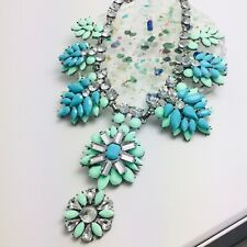 Turquoise Shourouk Crystal Flower TOWIE Necklace
