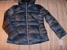 ZeroXposur NWT blue plaid jacket snap-on, faux fur trimed hood, Large Woman