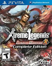 SONY PLAYSTATION PS VITA GAME - XTREME LEGENDS DYNASTY WARRIORS 8 - COMPLETE