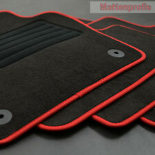 Mattenprofis Velours Fußmatten passend für VW Polo VI 6 Typ AW 2G Bj.09/2017 rot