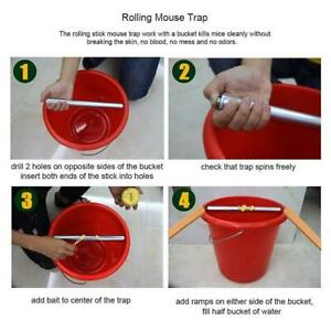 Mousetrap Catch Roll Trap Grasp Bucket Rolling Auto Spinning Capture System #ju