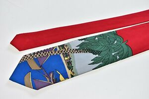 """POLO BY RALPH LAUREN RED Men's Neck Tie W:3 1/2"""" by L:58"""" MADE IN ITALY"""