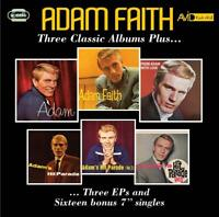 ADAM FAITH - THREE CLASSIC ALBUMS PLUS  2 CD NEW