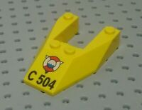 Lego Slope Wedge 6x4 with gap +Print: Life Ring & 'C 504' [6153apb04] Yellow x1