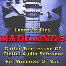 BADLANDS Guitar Tab Lesson CD Software - 18 Songs