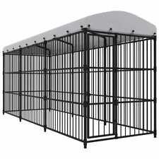 Vidaxl Canile da esterno con tetto 450x150x210 cm Gabbia recinzione per cani