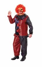 Zombie Clown Costume With Mask Halloween Scary Mens Fancy Dress