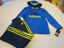 Boy's Baby adidas active jacket pants set AG5791 3T toddler dk blue royal yellow