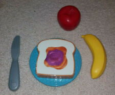 VINTAGE Fisher Price Fun with Food Peanut Butter Jelly Sandwich Play Banana Lot