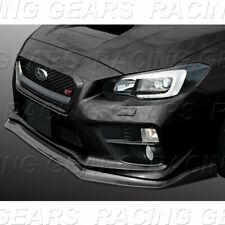 Fit 2015-20 Subaru Wrx Sti 3Pcs Cs-Style Painted Black Front Body Kit Bumper Lip