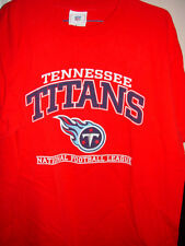 NFL Tennessee Titans National football League Size Large Red T-Shirt
