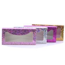 holographic Glitter lashes box 50 pcs paper lashes packaging for false eyelashes