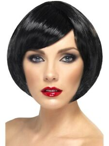 Black Babe Wig Ladies Fancy Dress Glamour Short Bob Wig Party Hen Night