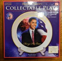 NEW President Barack Obama Historic Victory Collectible Plate. As seen on tv