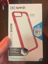 iPhone 7 Plus/ 8 Plus/ 6 Plus Speck Presidio Show Case CLEAR/HEARTTHROB RED New