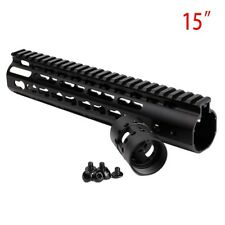 15'' Free Float KeyMod Handguard Picatinny Rail Mount Replacement For AR 223/556