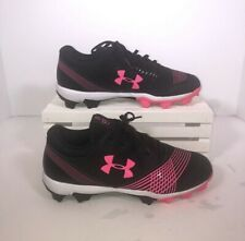 Excellent Condition Size 8 Under Armour Pink Cleats 1297334-064