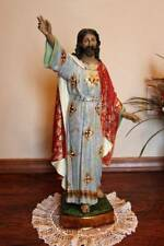 Risen Jesus Christ 23 inch Statue Spanish Style Gilded Gold Accents