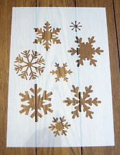 I singoli fiocchi di neve MASCHERA FOGLI Stencil Riutilizzabile Mylar Foglio per Arts & Crafts