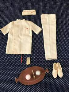 RARE 1965 MATTEL KEN #1407 FOUNTAIN BOY OUTFIT WITH WHITE PANTS AND SHOES VF !!