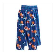 NWT Boys 2 PK Sports Lounge Pants Size 6-8 M Soccer Football Baseball Basketball