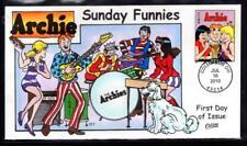 1¢ WONDER'S ~ SUNDAY FUNNIES ARCHIE FDC COLLINS HANDPAINTED CACHET ~ U949