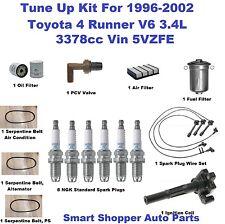 Toyota 4 Runner Serpentine Belt, Spark Plug Wire Set, Spark Plug, Air Filter, PC