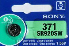1 PILE SR920SW / SR920 / 371 / 1,55V SONY / ENVOI RAPIDE