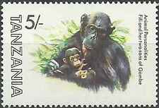 Timbre Animaux Singes Tanzanie 205 ** lot 17269