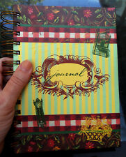 New TRACY PORTER Garden JOURNAL Diary Notebook Spiral Hardcover Flowers Stripes