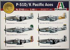 Italeri 2743 P-51D/K Pacific Aces (6 Versions of Decals) 1/48 Model Kit NIB