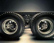 1/14 RC car option metal rear wheel CNC parts for tamiya truck man scania x 2