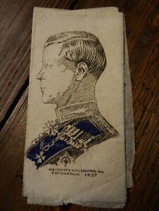 Edward VIII Coronation Paper Napkin / Table Decoration (1937) Royal Ephemera