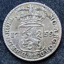 1/4 Gulden 1759 Niederlande  2,65 g .920 Silber KM#100