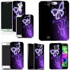 Handyhülle SchutzHülle case für die meisten Hand purple sparkle buterfly silicon