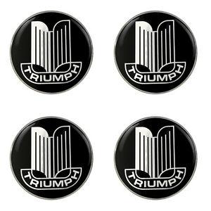 Triumph Grille Logo Self Adhesive Set of 4 Gel Wheel Centres
