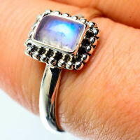 Rainbow Moonstone 925 Sterling Silver Ring Size 8.25 Ana Co Jewelry R25356F