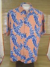 CARIBBEAN Hawaiian ALOHA shirt pit to pit 26 XL silk tropical floral luau tiki