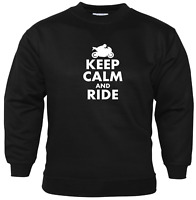 Keep Calm And Ride Sweatshirt Biker Enthusiast Motorbike Accessories Motorcycle