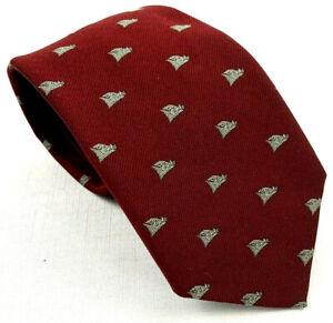"robert talbott vintage razorback boar pattern silk face neck tie 55"" x 3 7/16"""