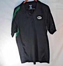 New York Jets NFL Reebok Black Team Logo AFC-East Polo Shirt - Size L