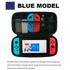 Blue Slim Armor EVA Hard Travel Case Cover For Nintendo Switch