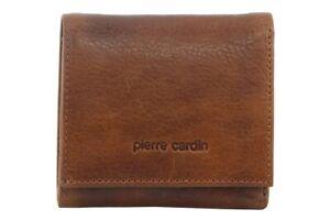 Pierre Cardin RFID Men's Wallet Tri-Fold Genuine Italian Leather - Cognac