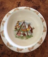 ROYAL DOULTON BUNNYKINS FLAT BOTTOM NURSERY BOWL CHRISTENING GIFT CHINA