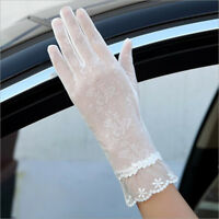Summer Women Sun Protection Gloves Driving Touch Screen Lace Gloves Anti UV
