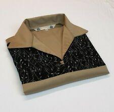 MENS SMALL Khaki Bowling Shirt Rockabilly Vintage 1950's Retro rock n roll